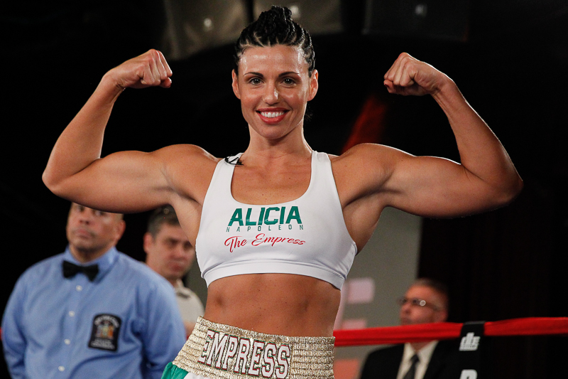 "WBA SUPER MIDDLEWEIGHT WOMEN'S WORLD CHAMPION ALICIA ""THE EMPRESS"" NAPOLEON-ESPINOSA JOINS BROADWAY BOXING COMMENTARY TEAM"