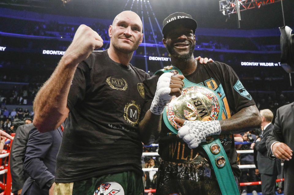 DEONTAY WILDER AND TYSON FURY FIGHT TO SPLIT-DECISION DRAW IN EPIC BATTLE ON SHOWTIME PPV® FROM STAPLES CENTER IN LOS ANGELES