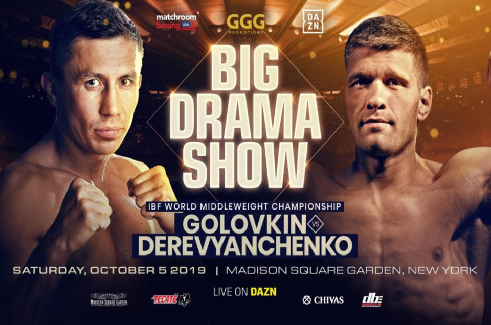 GOLOVKIN AND DEREVYANCHENKO CLASH FOR IBF CROWN IN NEW YORK