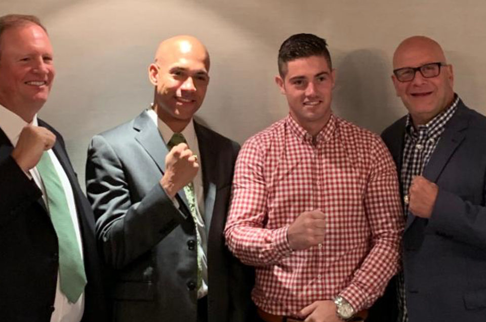 IRISH AMATEUR BOXING STAR JOE WARD SIGNS PROMOTIONAL AGREEMENT WITH DIBELLA ENTERTAINMENT AND MURPHYS BOXING