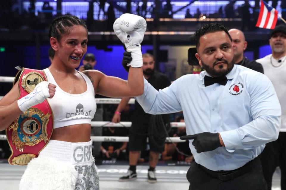 SEVEN-DIVISION WORLD CHAMPION AMANDA SERRANO SCORES THIRD-ROUND KNOCKOUT IN MIAMI ON THURSDAY NIGHT